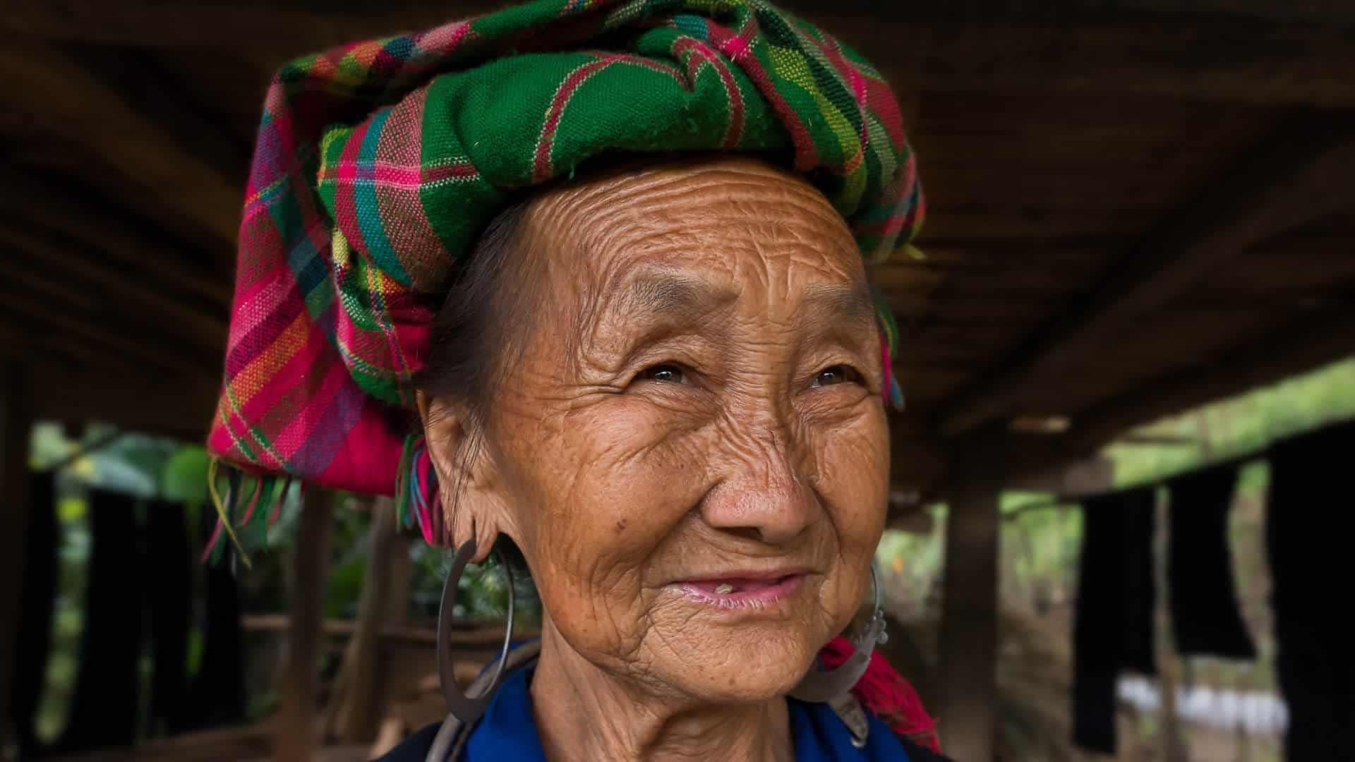 Alte Frau in Mu Cang Chai, YenBai, Vietnam