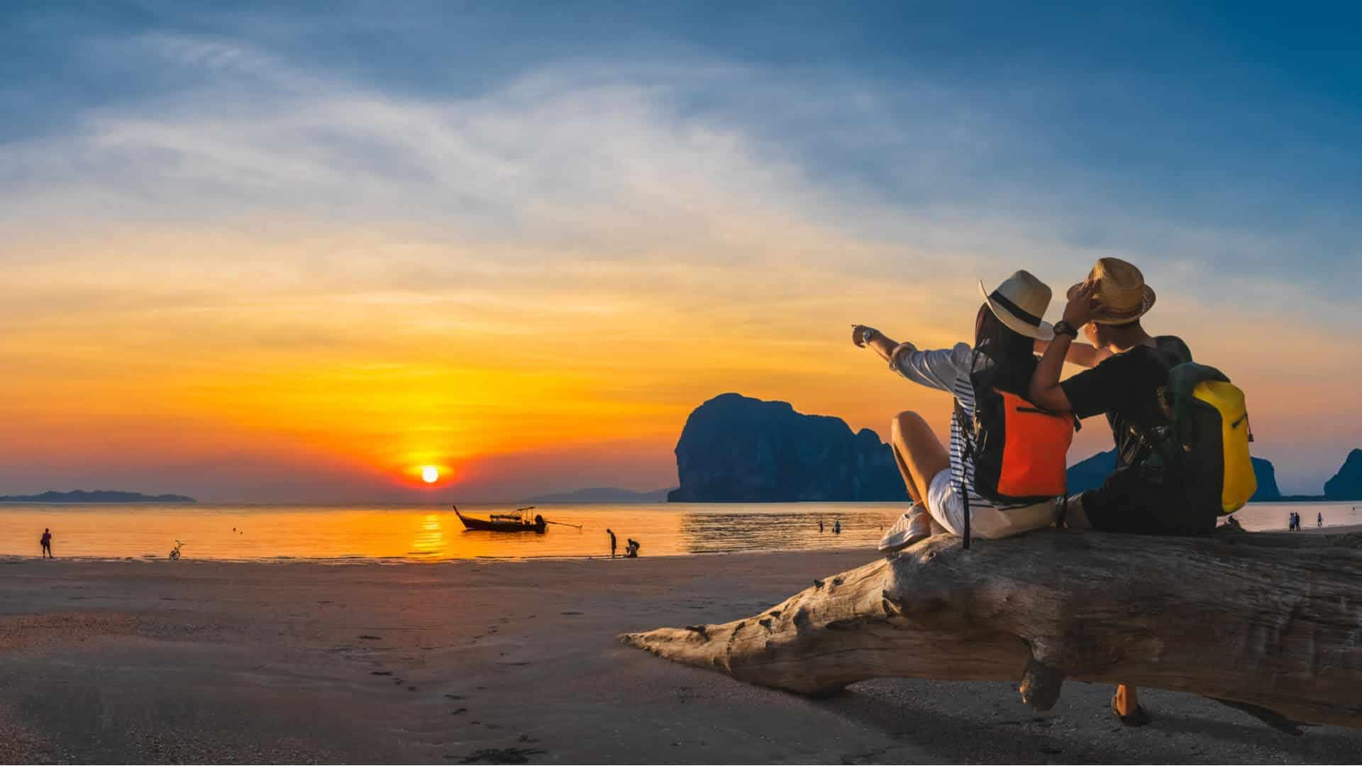 Romantic Couple on beach in Thailand