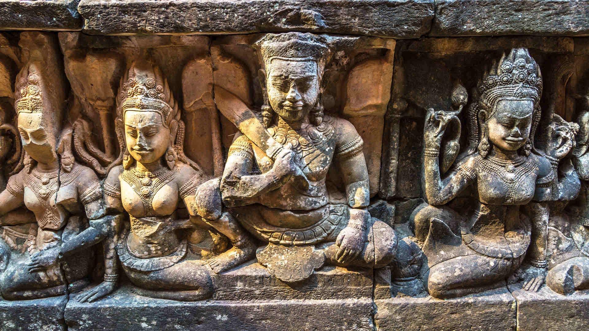 Angkor Wat Tempel Statuen