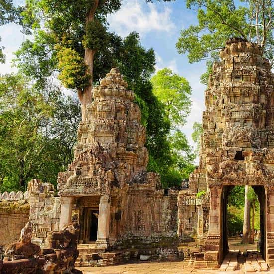 Preah Khan temple in Angkor, Siem Reap