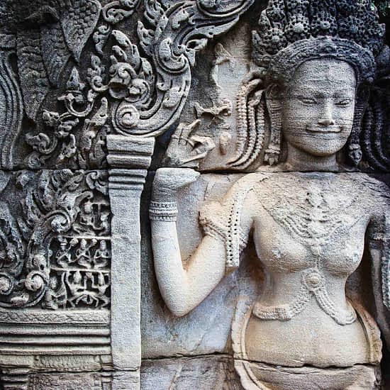 Khmer architecture in Banteay Srei temple Siem Reap, Cambodia